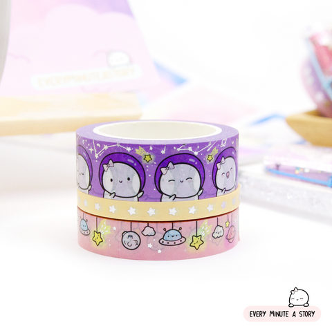 Set 1-Beanie in space Washi- Set of 3- LOW STOCK!