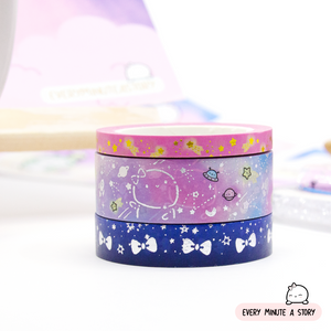 Set 2- Beanie in space Washi- LOW STOCK!