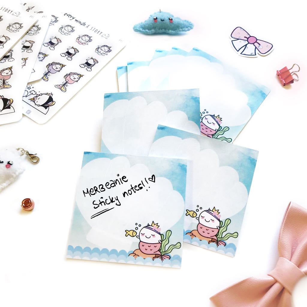 Mer-beanie Sticky Notes- LIMITED STOCK! - Every Minute A Story