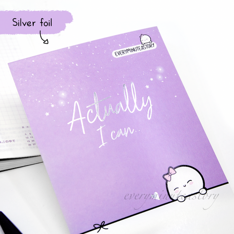 Actually I can silver foil Journaling/Postcard- LIMITED STOCK!