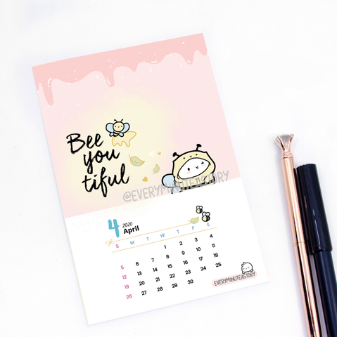 April 2020 Beanie Journaling/Postcard- LIMITED STOCK!