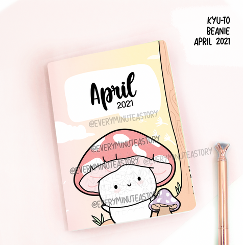 April 2021, Kyu-to Beanie Monthlies | Printed Insert, Inserts | Passport size