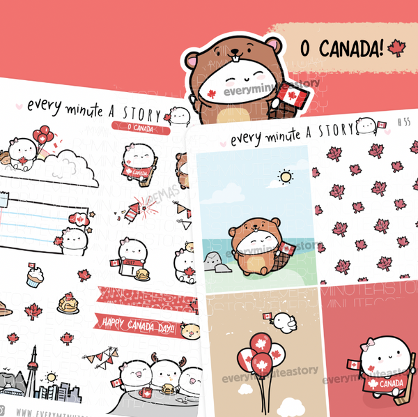 Canada Day Beanie planner stickers- LOW STOCK!