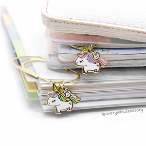 Painted dreams- unicorn wishes hard enamel charm