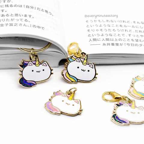 Purr-tato-corn/kitty unicorn hard enamel charm- LOW STOCK!