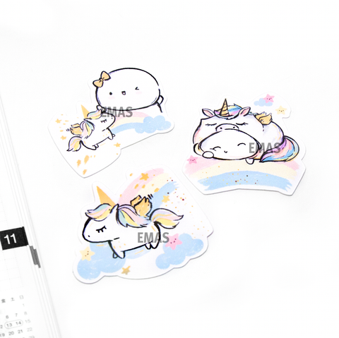 Painted Dreams- Magical unicorn die cuts Set of 3