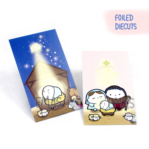 Christmas Nativity gold foil notecards | LIMITED EDITION