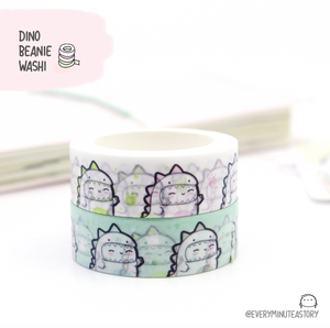 Limited Stock! Dino Beanie onesie washi tape