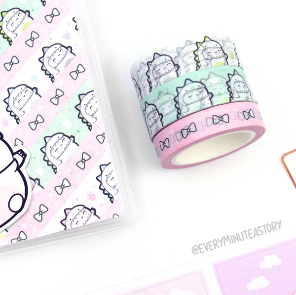 Limited Stock! Pink Chiffon Beanie bow washi tape