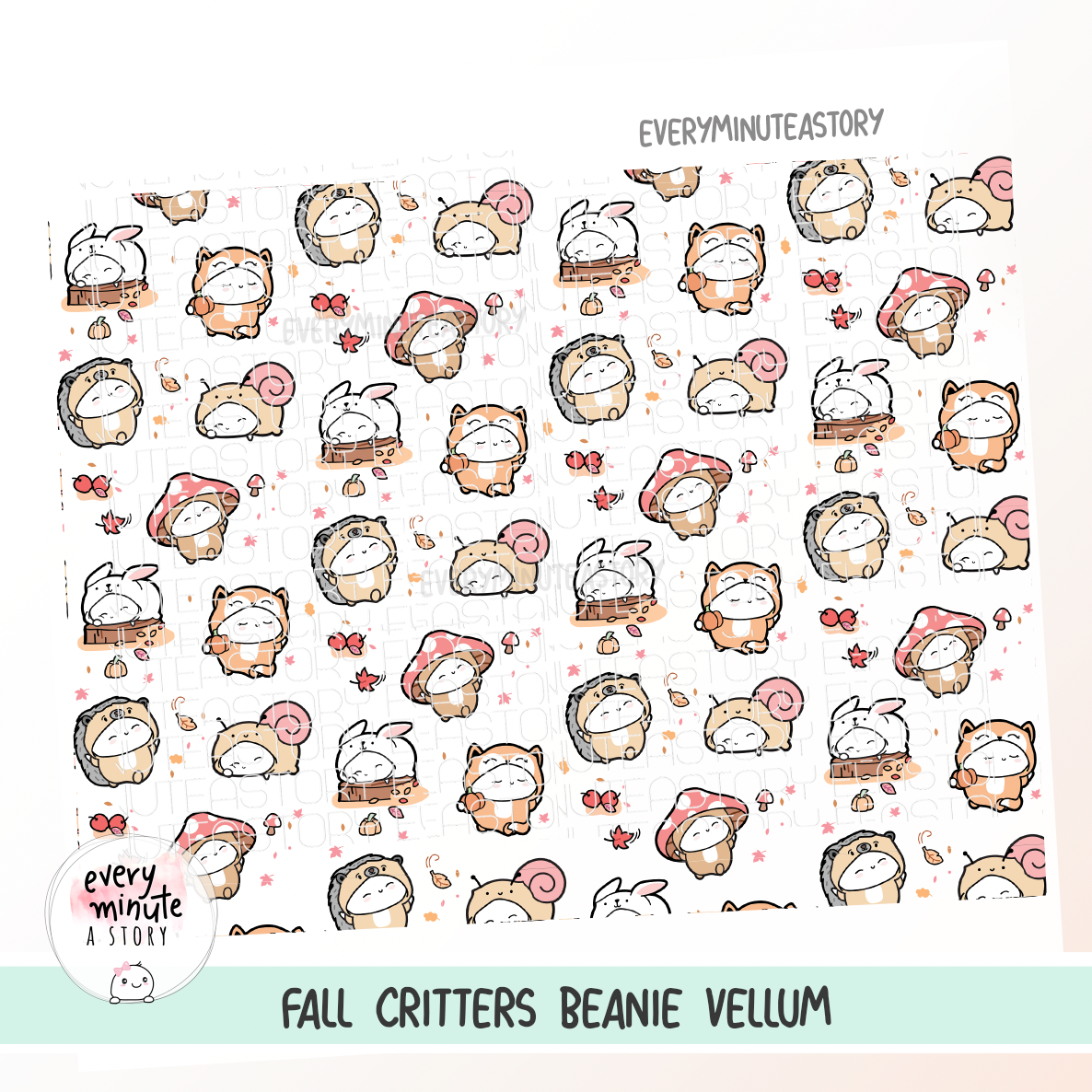 OOPS Fall critters vellum- LIMITED STOCK!
