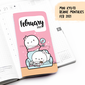 February 2021, MINI Kyu-to Beanie Monthlies | Printed Insert, Inserts