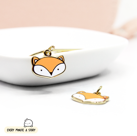 Painted Dreams Fox hard enamel charm- Limited stock!