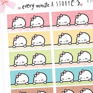 Pastel Beanie washi strips planner stickers- LOW STOCK!