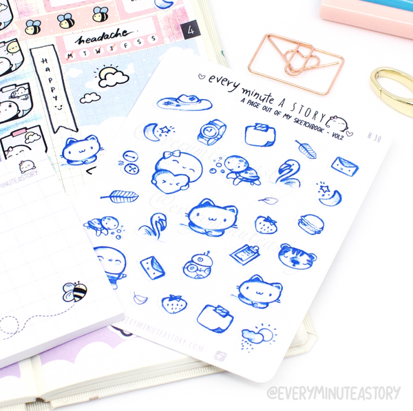 'A page out of my sketch book' Vol.2 stickers-LOW STOCK!