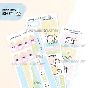 Rainy days Hobonichi weeks kit, hobo weeks- LOW STOCK!