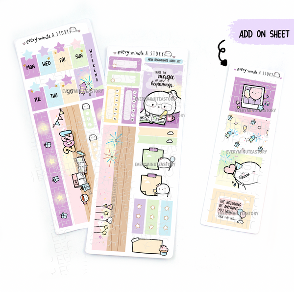 Time to write a new story New Year Hobonichi weeks kit, hobo weeks- LOW STOCK!
