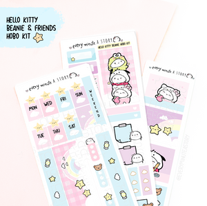 Hello Kitty and Friends Beanie Hobonichi weeks kit | Limited Edition
