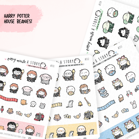 Harry Potter house stickers