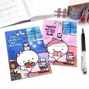 Stay cozy winter Journaling/Postcards- LIMITED STOCK!