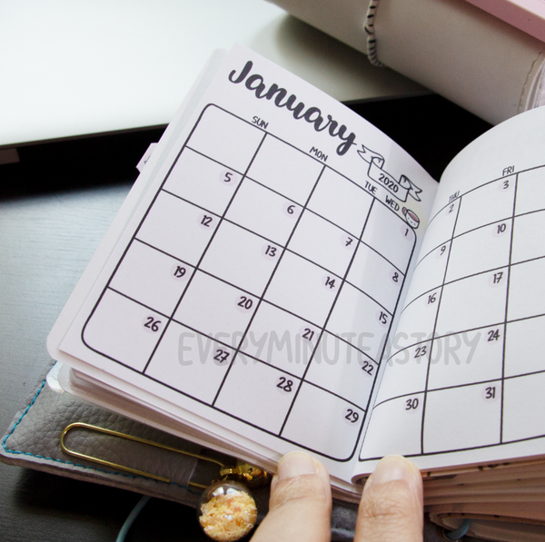 January 2020, Kyu-to Beanie Monthlies | Printed Insert, Inserts