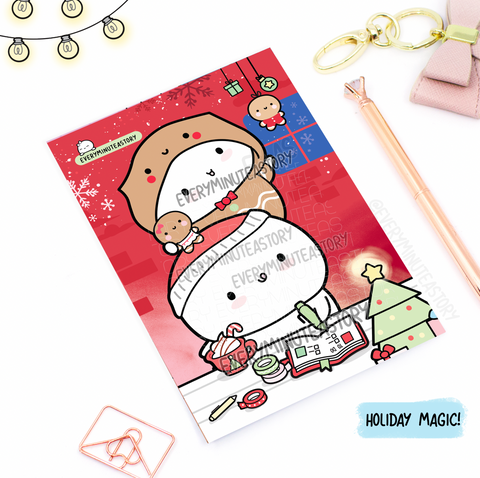 Holiday planning, planner girl Journaling/Postcard- LIMITED STOCK!