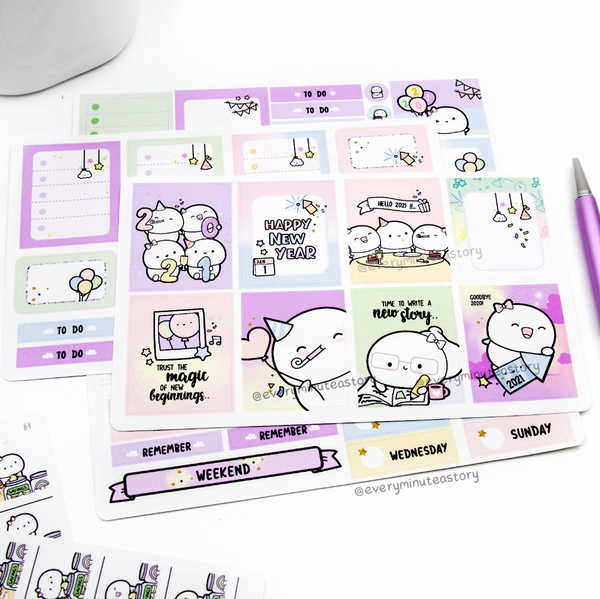 Time to write a new story New Year hand-drawn kit- mini and full kit- LOW STOCK!