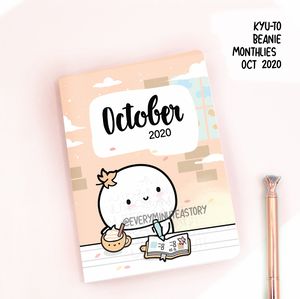 October 2020, Kyu-to Beanie Monthlies | Printed Insert, Inserts- LOW STOCK!