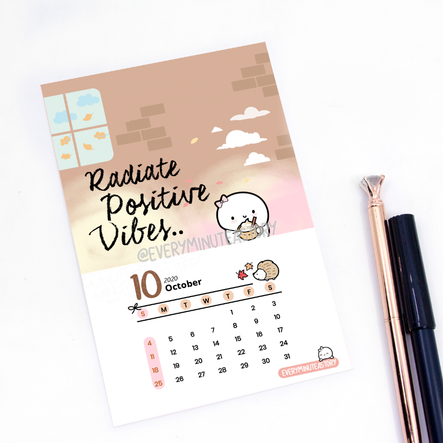 October 2020 Beanie Journaling/Postcard- LIMITED STOCK!