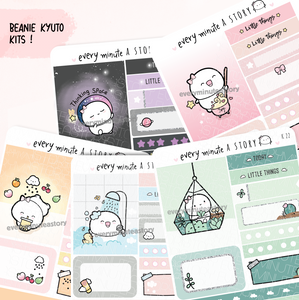 Set 2- Assorted Kyu-to Beanie Monthlies Kits, boba, terrarium, potion, thinking space, me time.