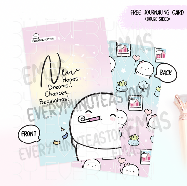 January 2021, MINI Kyu-to Beanie Monthlies | Printed Insert, Inserts