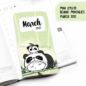 March 2021, MINI Kyu-to Beanie Monthlies | Printed Insert, Inserts