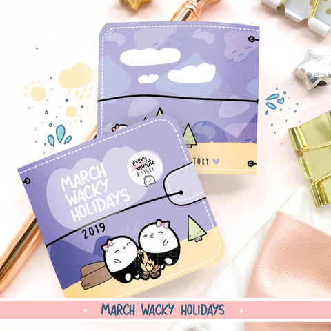 March 2019 Wacky Holidays Sticker book