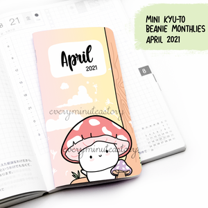 April 2021, MINI Kyu-to Beanie Monthlies | Printed Insert, Inserts