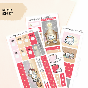 Christmas Nativity Beanie Hobonichi weeks kit, - LOW STOCK!