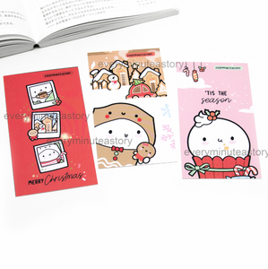 Holiday themed notecards/mini journaling cards, thank you cards- LIMITED STOCK!