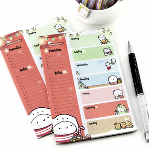 Christmas Beanie weekly notepad | - LAST STOCK!