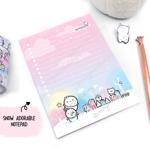 Snow Adorable Beanie notepad | Holiday Magic | LIMITED STOCK!