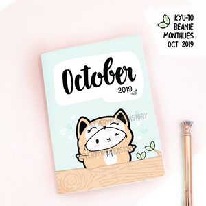 October 2019, Kyu-to Beanie Monthlies | Printed Insert, Inserts