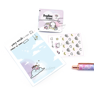 Positive Potions, magical Sticker book and Jelly cover