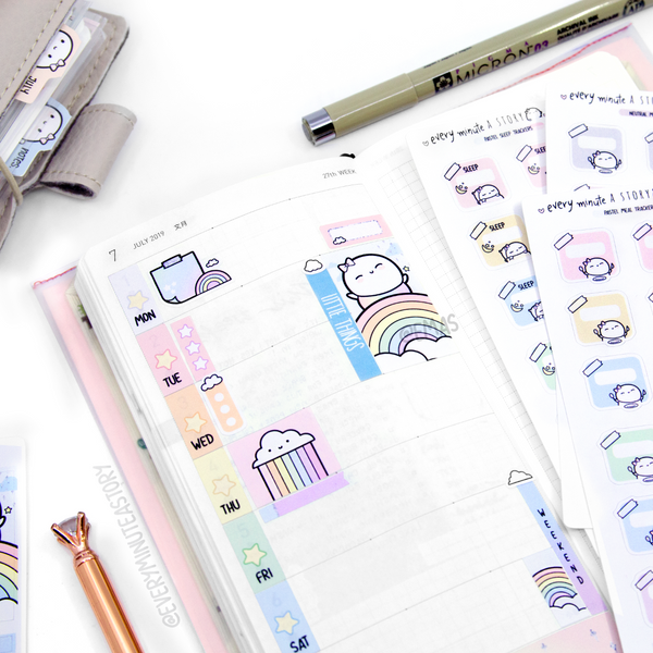 Over the Rainbow Hobonichi weeks kit, hobo weeks