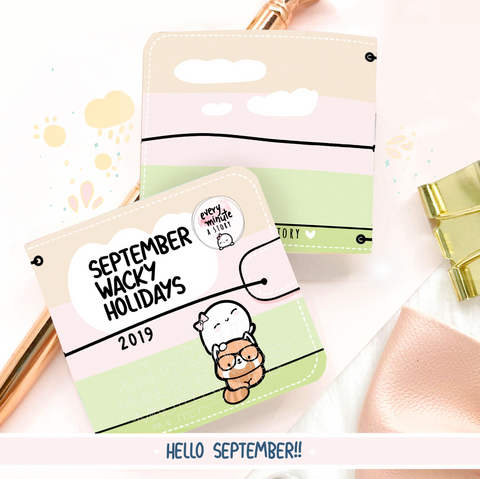 September 2019 Wacky Holidays Sticker book-LOW STOCK!