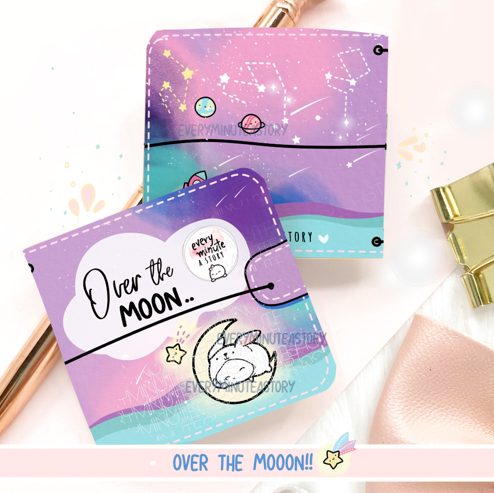 Over the moon, space Sticker book and Jelly cover- LOW STOCK!