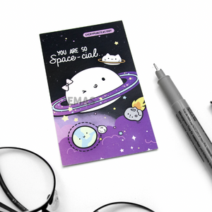 You are special notecard, space pun notecard