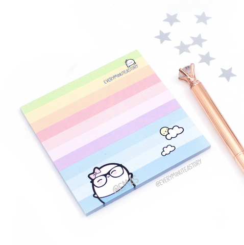 Rainbow nerd sticky note pads- -LOW STOCK!