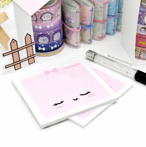 Pink and Fabulous Beanie Sticky Notes- LOW STOCK!