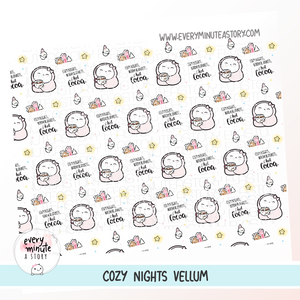 Cozy nights winter vellum