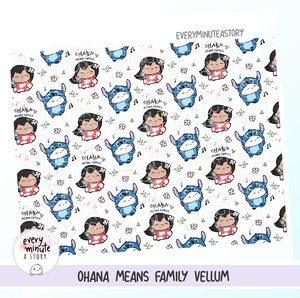 Lilo and Stitch Ohana Means Family vellum