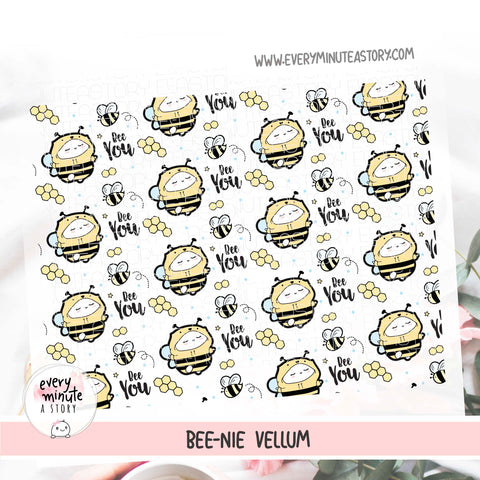 Bee you- Beanie honey bee spring Vellum- 'Hello Sunshine' collection