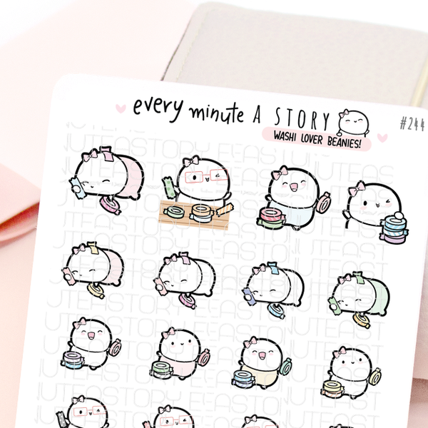 Washi lover, hoarder Beanie stickers