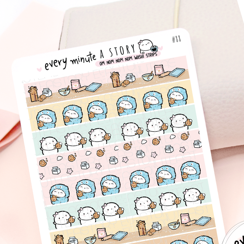 Washi strips Cookie lover, Beanie stickers